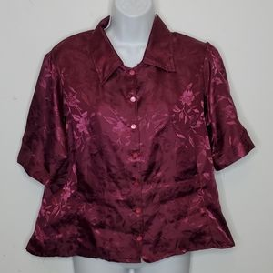 Vintage Homemade Puff Sleeve Button Down Blouse